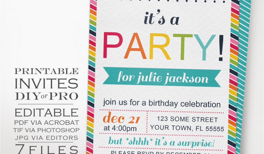 Diy Birthday Invitations Online Free Rainbow Party