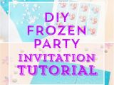 Diy Birthday Invitations Online Free Homemade Frozen Birthday Invitations Invitation Librarry