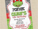 Diy Ninja Turtle Birthday Invitations Diy Ninja Turtle Invitation Party Invitations Ideas
