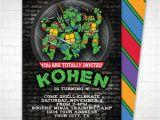 Diy Ninja Turtle Birthday Invitations Diy Teenage Mutant Ninja Turtle Party Invitation