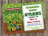 Diy Ninja Turtle Birthday Invitations Ninja Turtle 5×7 Diy Printable Birthday Invitation