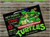 Diy Ninja Turtle Birthday Invitations Teenage Mutant Ninja Turtle Birthday Invitation Diy Custom