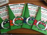 Diy Ninja Turtle Birthday Invitations Teenage Mutant Ninja Turtles Inspired Birthday Invitations