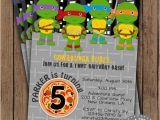 Diy Ninja Turtle Birthday Invitations Teenage Mutant Ninja Turtles Invitation Tmnt by 2sweetteas
