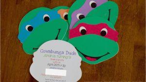 Diy Ninja Turtle Birthday Invitations Tmnt Birthday Ideas Awesome Teenage Mutant Ninja Turtle
