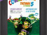 Diy Ninja Turtle Birthday Invitations Tmnt Birthday Invitation Teenage Mutant Ninja Turtles Diy