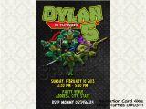 Diy Ninja Turtle Birthday Invitations Tmnt Teenage Mutant Ninja Turtles Birthday Invitations