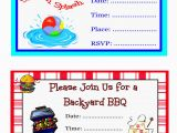 Do It Yourself Birthday Invitations Pool Party Invitations Free Printable Oxsvitation Com