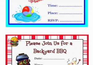 Do It Yourself Birthday Invitations Pool Party Free Printable Oxsvitation Com