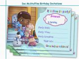 Doc Mcstuffin Birthday Invitations Amazing Doc Mcstuffins Birthday by Holidaypartystar On Zibbet