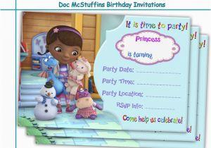 Doc Mcstuffin Birthday Invitations Amazing Mcstuffins By Holidaypartystar On Zibbet