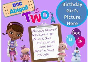 Doc Mcstuffin Birthday Invitations Create Mcstuffins Free