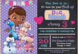Doc Mcstuffin Birthday Invitations Doc Mcstuffin Invitation Doc Mcstuffins Birthday Invitation