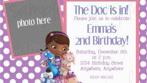 Doc Mcstuffin Birthday Invitations Doc Mcstuffins Birthday Invitation