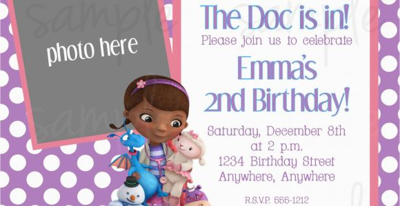 Doc Mcstuffin Birthday Invitations Doc Mcstuffins Birthday Invitation
