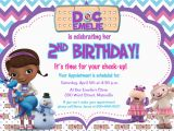 Doc Mcstuffin Birthday Invitations Doc Mcstuffins Birthday Party Invitation by Prettypaperpixels