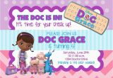 Doc Mcstuffin Birthday Invitations Doc Mcstuffins Birthday Party Invitation