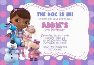 Doc Mcstuffin Birthday Invitations Mcstuffins