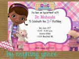 Doc Mcstuffin Birthday Invitations Doc Mcstuffins Party Invitations Doc Mcstuffins Party
