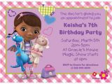 Doc Mcstuffin Birthday Invitations Doc Mcstuffins Personalized Invitation Birthday Custom