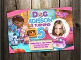 Doc Mcstuffins Birthday Card Doc Mcstuffins Disney Birthday Party Invitation Card