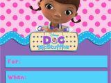 Doc Mcstuffins Birthday Card Doc Mcstuffins Invitation Template