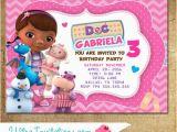 Doc Mcstuffins Birthday Card Doc Mcstuffins Invitations Party Invitations Printable