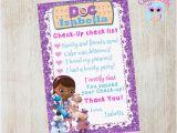Doc Mcstuffins Birthday Card Doc Mcstuffins Thank You Card Doc Mcstuffins by Cutepixels