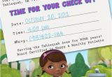Doc Mcstuffins Birthday Card Items Similar to Doc Mcstuffins Appointment Card Birthday