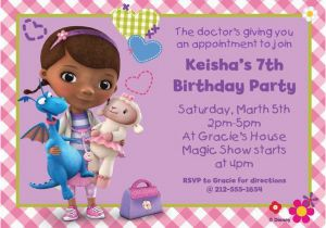 Doc Mcstuffins Birthday Invitations Online Personalized Invitation Custom