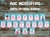 Doc Mcstuffins Happy Birthday Banner Doc Mcstuffins Banner Doc Mcstuffins Happy by