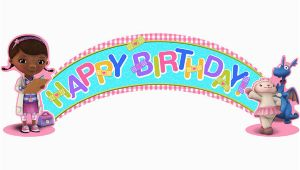 Doc Mcstuffins Happy Birthday Banner Doc Mcstuffins Birthday Banner This Party Started