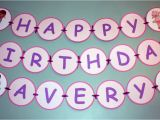 Doc Mcstuffins Happy Birthday Banner Items Similar to Doc Mcstuffins Birthday Child Name Banner