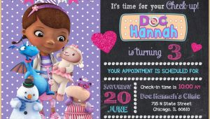 Doc Mcstuffins Personalized Birthday Invitations Doc Mcstuffin Invitation Doc Mcstuffins Birthday Invitation