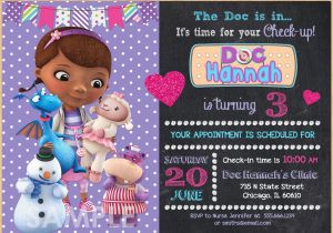 Doc Mcstuffins Personalized Birthday Invitations Mcstuffin Invitation