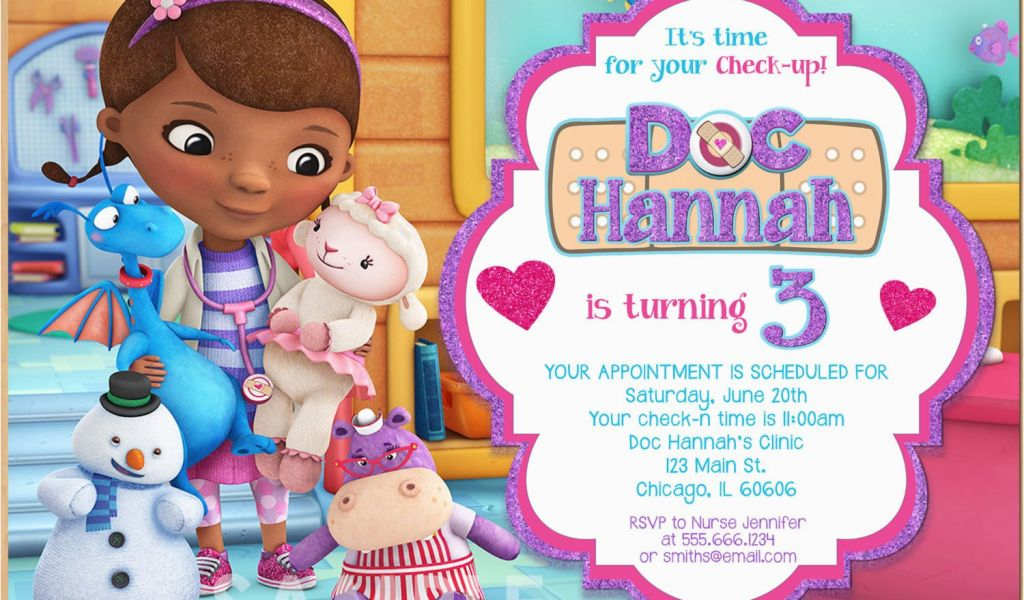 Download By SizeHandphone Tablet Desktop Original Size Back To Doc Mcstuffins Personalized Birthday Invitations