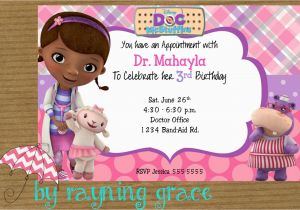 Doc Mcstuffins Personalized Birthday Invitations Party