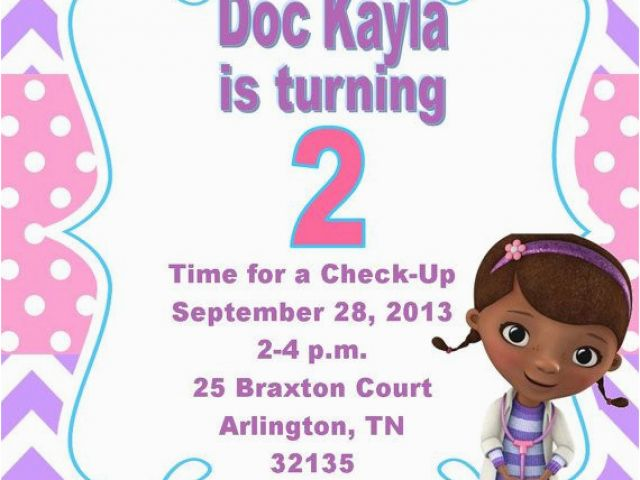 photo regarding Doc Mcstuffins Printable Invitations called Printable Document Mcstuffins Invites - Letter.BestKitchenView.CO