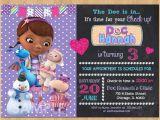 Doc Mcstuffins Printable Birthday Invitations Create Doc Mcstuffins Birthday Invitations Free