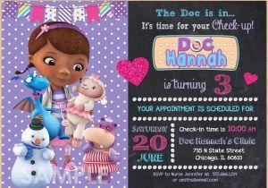 Doc Mcstuffins Printable Birthday Invitations Create Free