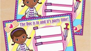 Doc Mcstuffins Printable Birthday Invitations Free Printable Disney Doc Mcstuffins Birthday Invitation