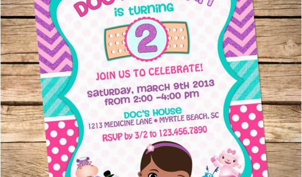 picture relating to Doc Mcstuffins Printable Invitations known as Document Mcstuffins Printable Birthday Invites Printable