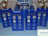 Doctor who Birthday Decorations Doctor who Party Favor Gift Bag Tardis Birthday Party