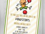 Dodgeball Birthday Party Invitations Custom Digital Printable Invitation Dodgeball Birthday