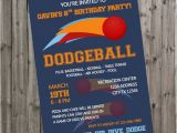 Dodgeball Birthday Party Invitations Dodgeball Birthday Invitation Dodgeball by Drummingmumdesigns