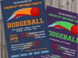 Dodgeball Birthday Party Invitations Dodgeball Birthday Invitation Dodgeball Invite Birthday Party