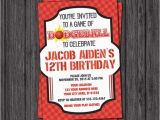 Dodgeball Birthday Party Invitations Dodgeball Birthday Invitation Sports Birthday