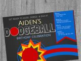 Dodgeball Birthday Party Invitations Dodgeball Birthday Party Invitations Dodgeball theme Boy