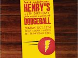 Dodgeball Birthday Party Invitations Dodgeball Invitations Set Of 12 by Polkaprints Cards