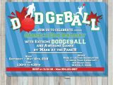 Dodgeball Birthday Party Invitations Dodgeball Party Birthday Invite